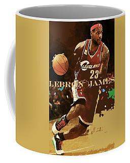 Lebron James, King James, Cleveland Cavaliers Coffee Mug
