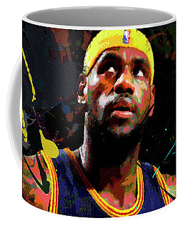 Coffee Mug featuring the painting Lebron by Richard Day