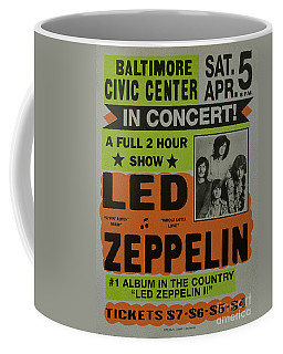 Led Zeppelin Live In Concert At The Baltimore Civic Center Poster Coffee Mug