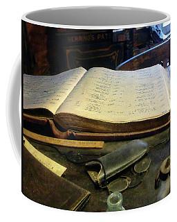 Ledger And Eyeglasses Coffee Mug