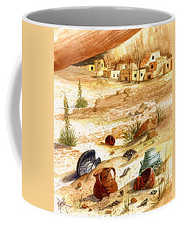 Coffee Mug featuring the painting Left Behind - Indian Pottery by Marilyn Smith