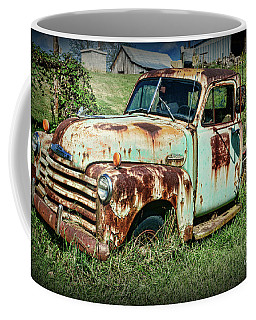 Coffee Mug featuring the photograph Left In The Pasture by Paul Ward