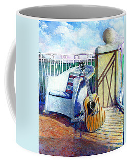 Coffee Mug featuring the painting Lefty Left by Andrew King
