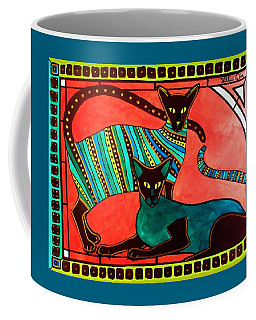 Legend Of The Siamese - Cat Art By Dora Hathazi Mendes Coffee Mug