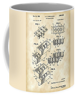 Lego Patent 1958 - Vintage Coffee Mug by Stephen Younts