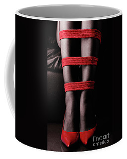 Legs In Red Ropes Coffee Mug
