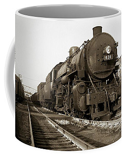 Lehigh Valley Steam Locomotive 431 At Wilkes Barre Pa. 1940s Coffee Mug