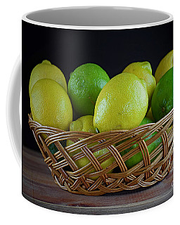 Lemon And Lime Basket Coffee Mug by Ray Shrewsberry