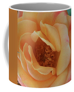 Coffee Mug featuring the photograph Lemon Blush Rose by Marna Edwards Flavell