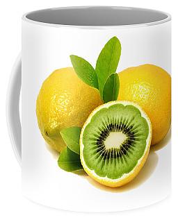 Coffee Mug featuring the digital art Lemon Kiwi by ISAW Company