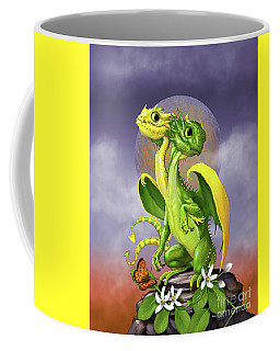 Coffee Mug featuring the digital art Lemon Lime Dragon by Stanley Morrison