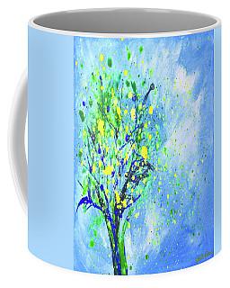 Lemon Tree Vertical Abstract Painting Coffee Mug