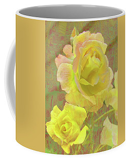 Coffee Mug featuring the photograph Lemon Yellow Roses by Nareeta Martin