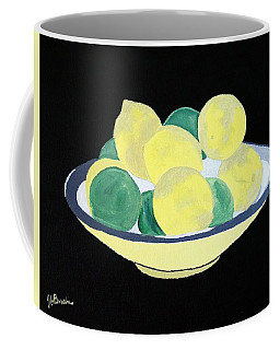 Lemons And Limes In Bowl Coffee Mug