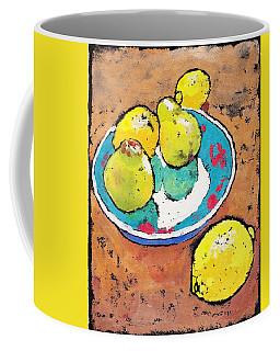 Lemons And Pears Coffee Mug by Ruth Kamenev