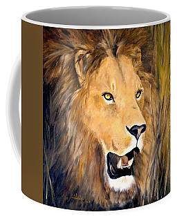 Coffee Mug featuring the painting Leo by Alan Lakin