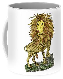 Coffee Mug featuring the drawing Leo by Barbara McConoughey
