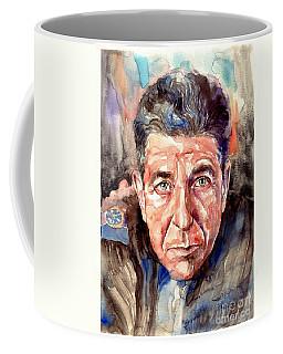 Leonard Cohen Painting Coffee Mug