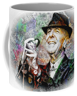Leonard Cohen - Tribute Painting Coffee Mug