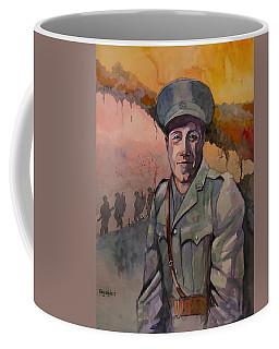 Coffee Mug featuring the painting Leonard Keysor Vc by Ray Agius