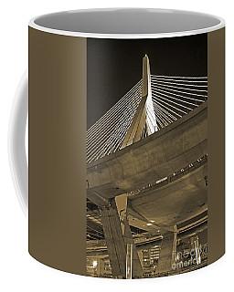 Leonard P. Zakim Bunker Hill Bridge In Sepia Coffee Mug