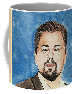 Leonardo Dicaprio  30 Minutes Watercolor Painting  Coffee Mug by Edwin Alverio