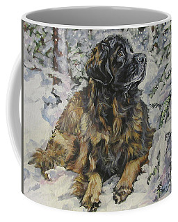Leonberger In The Snow Coffee Mug