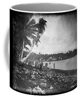 Coffee Mug featuring the painting Leoni, Tutuila, Samoa, Photographed In Tutuila, Samoa, Published By Kerry And Company, Sydney, New by Artistic Panda