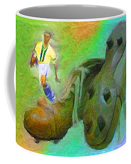 Leonidas And Soccer Shoes Coffee Mug by Caito Junqueira