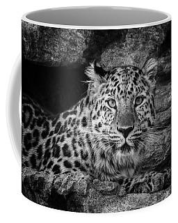 Leopard Black And White Coffee Mug