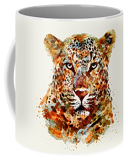 Leopard Head Watercolor Coffee Mug
