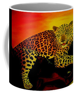 Leopard On A Tree Coffee Mug by Manuel Sanchez