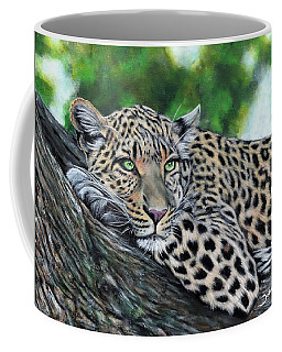 Leopard On Branch Coffee Mug