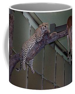 Leopard Tree Cat Preying Coffee Mug