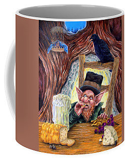 Coffee Mug featuring the painting Leprechaun's Lair by Heather Calderon