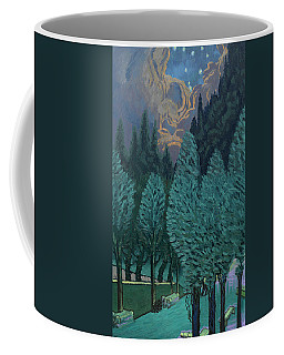 Les Alycamps And The Starry Night Coffee Mug