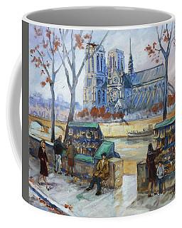 Les Bouquinistes, Seine, Paris Coffee Mug by Irek Szelag