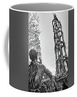 Coffee Mug featuring the photograph Les Castellers Monument In Tarragona by Eduardo Jose Accorinti