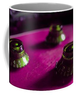 Guitar Controls Series Pink And Green Coffee Mug