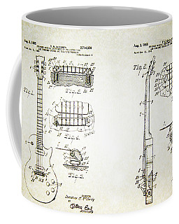 Les Paul Guitar Patent 1955 Coffee Mug by Bill Cannon