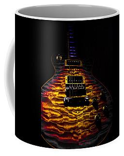 Tri-burst Quilt Top Guitar Spotlight Series Coffee Mug