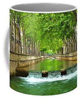 Les Quais De La Fontaine Nimes Coffee Mug by Scott Carruthers