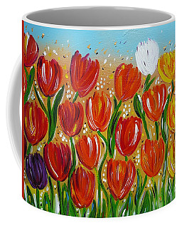 Les Tulipes - The Tulips Coffee Mug by Gioia Albano