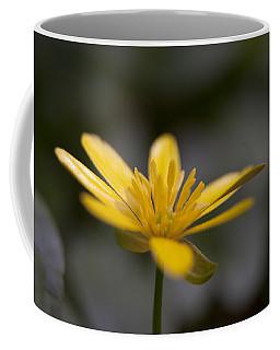 Coffee Mug featuring the photograph Lesser Celandine by Karen Van Der Zijden