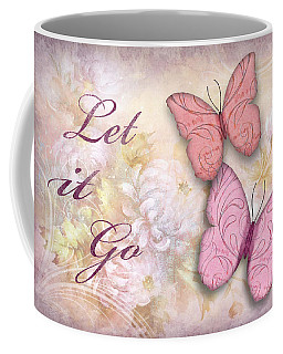 Let It Go Coffee Mug by Nina Bradica