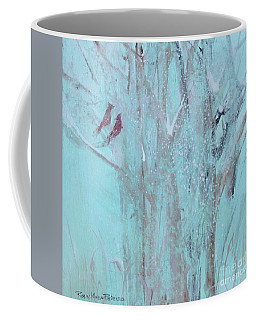 Coffee Mug featuring the painting Let It Snow by Robin Maria Pedrero