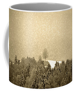 Coffee Mug featuring the photograph Let It Snow - Winter In Switzerland by Susanne Van Hulst