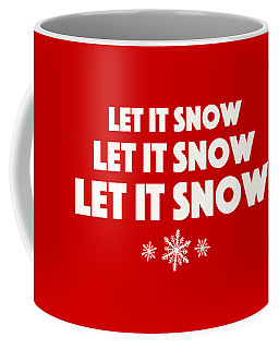 Coffee Mug featuring the digital art Let It Snow With Snowflakes by Heidi Hermes