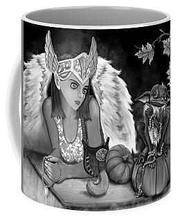 Let Me Explain - Black And White Fantasy Art Coffee Mug