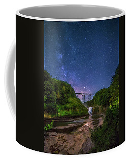 Coffee Mug featuring the photograph Letchworth At Night by Mark Papke